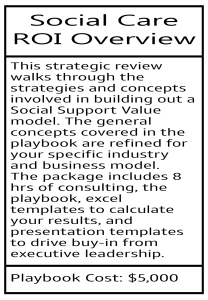 Social Care ROI Model