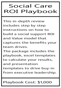 Social Support Care ROI Playbook