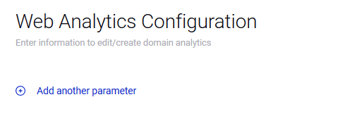 "Automating Sprinklr Web Analytics: Step 4: Click on ""Add another parameter"""